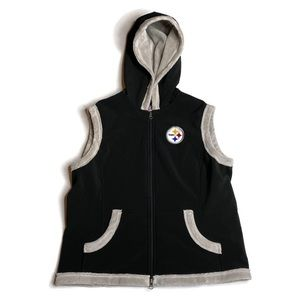 NFL Pittsburgh Steelers Lined Hooded Black Vest